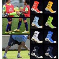 New Football Socks Anti Slip Soccer Men Good Quality Cotton Calcetines The Same Type As Trusox ZK008