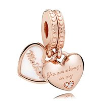 925 Charms en argent sterling 18k Rose Gold Snowflakakes Love Styling Stripling Stones Fit Pandora Snake Chain Chaîne Bracelet Accessoires Femmes Bijoux Bricolage Faire pour cadeau