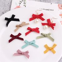 Hair Clips & Barrettes Wholesale 100PCs 23*26MM Handmade Ribbon Fabric Knot Bows Fit Girls Jewelry Bow Center Gift Box Garment Ornament Deco