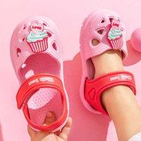 Meninas de verão Casual Chinelos Romanos Sandálias Chinelos de Sandálias Crianças Crianças Crianças Soft não-deslizamento Cute Sapatos Bonitos Dos Desenhos Animados Cortar Sapatos de Praia X0703