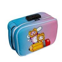 Косметические сумки Case LankyBox Мультфильм 3D Печать Портативное хранилище несут стратификацию Пароль блокировки молнии коробка Женщины макияж Организатор