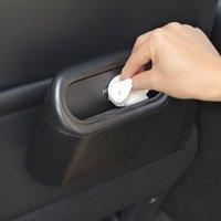 Abfallbehälter Auto Mülleimer KANE Hängen Fahrzeugmüllstaubkoffer Aufbewahrungsbox Schwarzes ABS Drücken von Typ Auto Inneneinrichtungen