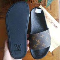Kadın / adam sandalet terlik ayakkabı terlik yüksek kalite sandalet rahat ayakkabı düz slayt AB: 35-45 ile kutusu 01