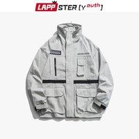 Men's Jackets LAPPSTER Streetwear Japan Style Bomber Jacket Men 2021 Hip Hop Windbreaker Cargo Harajuku Vintage Pockets Coats