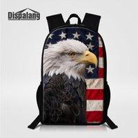 Рюкзак американский лысый орел стервюз печати плеча студенты книги сумки детские школьные подростки школьные сумки 16 дюймовая задняя часть