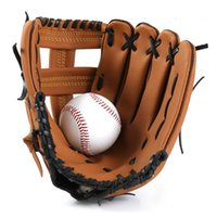 Outdoor Sports Gloves Outfield Baseball Leather Glove Thickened Damping Non-Slip Kids Adult Softball Training Practice Defensive Equipment