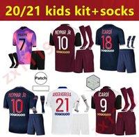 20 21 파리 키트 키트 축구 유니폼 아이 2020 2021 홈 멀리 홈 4th MBappe Icardi Maillot de Foot Youth Verratti 축구 셔츠