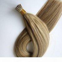 미리 본딩 된 I 팁 브라질 인간의 머리카락 확장 100g 100strands 18 20 24inch M8613 컬러 인도 헤어 제품