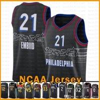 Joel 21 Embiid Philadelphia76erJersey James 33 Wiseman Donovan 45 Mitchell John 2 Duvar Basketbol Forması 2020 2021 Yeni Buck