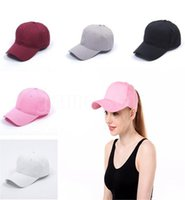 Ponytail Baseball Caps Washed Mesh Back Messy Bun Hats Quick-drying Breathable sunshade home Trucker Hat DB839