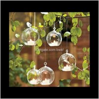 Vases Décor Home & Garden8Pcs Ball Clear Hanging Glass Globe Shape Flower Plants Terrarium Vase Container Micro Landscape Modern Fashion Drop