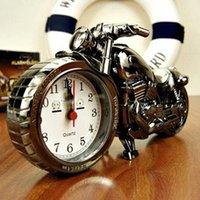 Прохладный мотоцикл будильник модель мода ретро будильник персонализированный настольный орнамент кварцевые часы личности подарок друзей