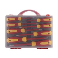 8Pcs Insulated Screwdriver Set Slotted Torx Magnetic Screwdriver Bits Double End Phillips Screw Bit Set For Electricians Tools