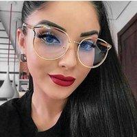 Cornici per occhiali da sole moda Trendy per occhiali trasparenti telaio ottico metallico ottico prescrizione computer occhiali da vista donne