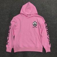 2021 Новый модный бренд Crisin свитер напечатанный граффити розовый крест с капюшоном чистый хлопок черно-белый чек Мужская и женская GNQA