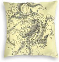 Pillow Case Dragon Tattoo Home Decorations Velvet Soft Square Pillowcase For Living Room, Bedroom, Couch, Sofa, Bed Etc.