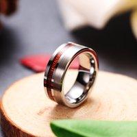 Mode All Match-Produkt Wolfram Ring Holzkornringe Herren