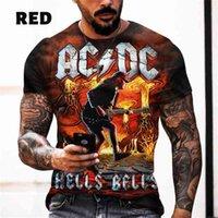 T-shirt en polyester pour homme de col polyester pour homme à manches courtes à manches de rock à manches longues
