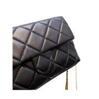 luxury designers CC Channel Women Bags Cowhide material black gold hardware handbag fashion messenger shoulder chain crossbody wallet tote designer bag 23x14cm