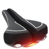 자전거 좌석 안장 PU 미등 댐핑 램프 램프 중공 MTB Shockproof 방수 편안한 사이클링 부품 자전거 액세서리 안장