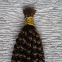처리되지 않은 몽골어 kinky 곱슬 벌크 머리 100g 1pcs 꼰 대량 첨부를위한 인간의 머리카락 100 % 인간의 크로 셰 뜨개질 머리카락 대량 벌크 아니