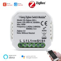 Smart Home Control Tuya Zigbee Switch Module With Neutral Or Neutra Live Line Automation Interruptor Work For Alexa Google