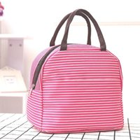 Storage Bags Bog Office Outdoor Camping School Kitchen Practical Handheld Home Travel Picnic Durable Stripe Pattern Portable