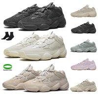 Kanye 500 Erkek Koşu Ayakkabıları 500 S Enflam Yumuşak Görüş Kemik Beyaz Siyah Allık Süper Ay Sarı Tuz Pembe Erkek Kadın Spor Sneakers Eğitmenler Boyutu 36-45