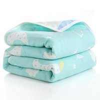 Summer Baby sottile trapunta neonato consolatore per bambini Bagno a sei strati Asciugamano da bagno per bambini Coperte per bambini (taglia 80 * 80) 1551 Y2