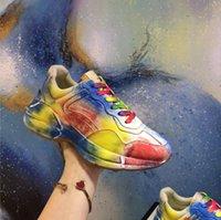 2021 дизайнерские туфли кожаные кроссовки ритона классические бежевые мужские тренажеры старинные роскоши преодоленные преодоления дамы дизайнеры для обуви хрустит размер 35-46 с коробкой