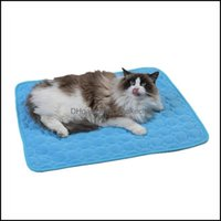 Cat Home Gardencat Beds & Furniture Pet Bed Sofa Cushion Blanket Breathable Cooling Mat Supplies Summer Dog Cool Drop Delivery 2021 Bwxx4