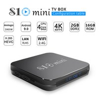 S10 mini Android 9. 0 TV Box Quad Core 2GB 16GB Amlogic S905w...
