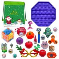 24 adet / takım Doldurulabilir Advent Takvim Çocuklar Hediye Sensory Oyuncak Noel Kör Çanta Noel Fidget Oyuncaklar Advent Takvim Özel CCA12681 Deniz Nakliye