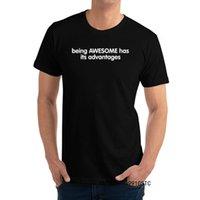 Ser exclusivo é incrível tem suas vantagens masculinas t - shirts Últimas amantes do dia redondo colar 100% algodão camiseta tops Tees
