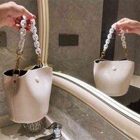 Women Luxurys Designers Bags 2021 spring mini bucket thick chain one cross over fashion High-qual Designer Handbag Handbags Totes Crossbody Bag