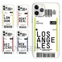 Bilhete de embarque Pass Capas telefônicas de tpu macio para iphone 12 11 pro max xr xs x 8 7 6 mais capa protetora anti-outono ultra fina