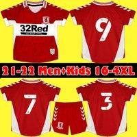 21 22 Middlesbrough Jerseys 2021 2022 Fry Assombalonga Akpom Fletcher Camisas de futebol homens Kit Kit undes