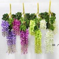 Glicine decorazione di nozze fiore fiore artificiale glicine di seta fiore lungo 110 cm bianco viola rosso verde fwa8263