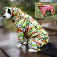 Dog Apparel Camouflage Pet Raincoat Hoody Waterproof Rain Lovely Jackets Coats Appreal For Large Labrador German Shepherd 10E