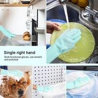 Волшебное силиконовое блюдо стиральные перчатки кухонные аксессуары для мытья посуды перчатка бытовые инструменты для уборки автомобиля Pet Щетка HWF9141