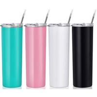 Mug Wholesale 20oz Custom Sublimation Blanks Skinny Insulated Stainless Steel Straight Tumbler Cups In Bulk