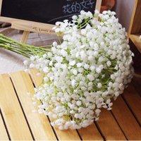 Decorative Flowers & Wreaths 1 Piece White Babies Breath Artificial Fake Gypsophila DIY Floral Bouquets Arrangement Wedding Home Decor