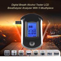 Atemberaubetester alkohol tester digital lcd backlight display atem hörbare alarmierung mit 20 mundstücken alkoholismus test
