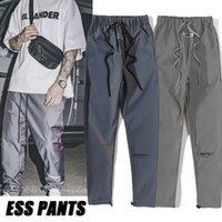 Tanrı korkusu Erkek Renkli Pantolon Essentials Silikon Harfler Baskı Pantolon Rahat Sis Sweatpants Kadın Yansıtıcı Eğlence Kauçuklu Su Geçirmez Rüzgarlık Pantolon