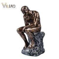 Vilead 26 سنتيمتر الراتنج الحجر الرملي مفكرين تمثال الرجعية الإبداعية الناس الحلي ديكورات المنزل الملحقات اليدوية الحرف الهدايا 210329