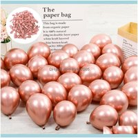 Decorations Supplies Wedding , Party & Events40Pcs Set 5Inch Chorme Rose Gold Mix Color Glossy Metallic Latex Balloons Thick Pink Green Infl