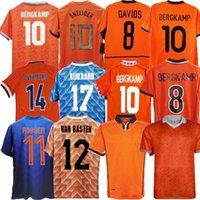 1978 Retro 1988 Holanda Futebol Jersey 2012 Van Basten 2000 2002 1998 Holland 2010 Camisas de futebol Bergkamp 1996 Gullit Sneijder Davids Rijkaard Cruyff