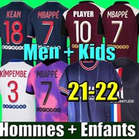 20 21 Fußballtrikot MBAPPE NEYMAR JR VERRATTI 2020 2021 MARQUINHOS KIMPEMBE PSG Fußballtrikots Kinder-Kit