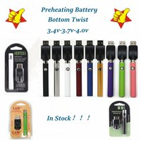 Vertex Preheat Battery 350 650 900mah VV Law Preheating 510 thread Batteries with USB Charger Kit Atomizers Cartridges