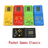 Plastic Tetris Hand held Game Player LCD Electronic Toys Pocket Games Console Classic Childhood for Gift Handheld Gaming new